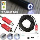 2M 55mm Endoscope 6 LED Waterproof Borescope Inspection HD Camera fr PC Android