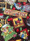 Mary Engelbreit Scotty Dogs Home Sweet Home Cherry  Cotton Fabric by the Yard