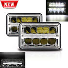 Pair 4x6 Led Sealed Beam Replacement Headlights for Chevy Camaro Ford Trucks