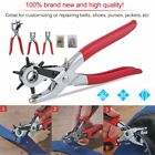 3pc Leather Belt Hole Punch +Eyelet Plier +Snap Button Grommet Setter Tool Kit Y