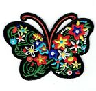 Butterfly Silhouette Flowers Iron on Applique Embroidered Patch 697113 A