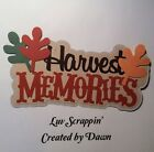 Harvest memories premade Scrapbook Page Title