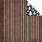 Reminisce CHALKBOARD CHRISTMAS Stripe 12x12 Dbl Sided 2 Scrapbooking Papers