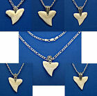 1 BULL SHARK TOOTH 925 Sterling Silver Figaro Necklace Chain 16 18 20 24 30