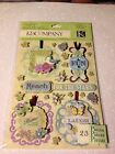 3D K&Company Susan Winget Grand Adhesions Botanical Tag Dimensional Stickers 3D