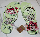JOULES WOMENS FLIP FLOPS SANDALS THONGS NEW LIME FLORAL