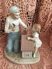 Lladro 5139 Father and Baby Girl, A New Doll House Retired! No Box! Mint! Rare!