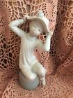 LLADRO 1147 Girl with Hat Matte Finish! Retired! Mint Condition! No Box! L@@K!