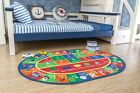 33x5 Kids Oval ABC Alphabet Numbers Educational Non Skid Area Rug 755