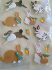 RECOLLECTIONS Stickers 3D RABBITS EASTER ADHESIVE RABBITS CARROTS EASTER ANIMAL