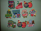 Lot of Ten Vintage Girl Scout patches