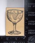 Rubber Stamp WINE GLASS Cup Drink Cocktail Wina Diva Mail Expressions HTF 476