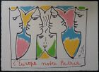 Jean Cocteau after Europa integrator lithography signed 1961