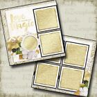 THE WEDDING SIX 2 Premade Scrapbook Pages EZ Layout 662