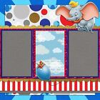DISNEY DUMBO 2 Premade Scrapbook Pages EZ Layout 451
