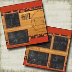 BASKETBALL COURT 2 Premade Scrapbook Pages EZ Layout 1