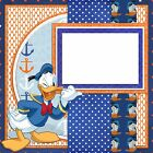 DISNEY DONALD 450 Premade Double Page Scrapbook Layouts
