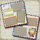 TRAVEL 2 Premade Scrapbook Pages EZ Layout 130