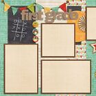 FIRST GRADE 2 Premade Scrapbook Pages EZ Layout 837