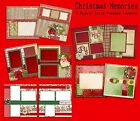 CHRISTMAS MEMORIES Set of 5 Double Page Premade Christmas Scrapbook Layouts