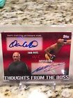 Ufc Topps Thoughts From The Boss Dual Auto 20 25 Dana Anderson silva