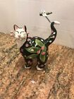 Whimsiclay Lacombe Black White Cat Figurine 24806 Flowers Dragonfly 2003