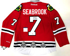 BRENT SEABROOK SIGNED CHICAGO BLACKHAWKS 3X STANLEY CUP PATCH JERSEY PSA COA