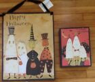 2 Ghost Witch Pumpkin Halloween Signs Decor Primitives By Kathy Dan Dipaolo Wood