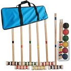 Wooden Croquet Set Ball Game Backyard Lawn Yard Outdoor Party Family Camping Fun