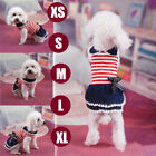 Summer Pet Dog Bow Tie Dress Puppy Lace Stripe Clothes Various Apparel Chihuahua