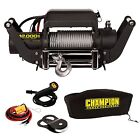 Champion 12000 Lb. Truck/SUV Winch with Speed Mount Adapter and Cover