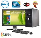 CLEARANCE Fast Dell Desktop Computer PC Core 2 Duo WINDOWS 7 10 + LCD + KB + MS