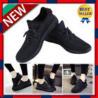 New Womens Boost Gym Trainers Fitness Sports Running Casual Shoes Black USA OY
