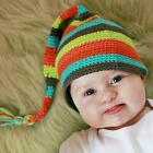 Huggalugs Smitten Flutter Hand Crocheted Striped Stocking Hat
