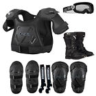 Kids Pee Wee Chest Protector Knee Guards Elbow Guards Goggle Boots Sock Combo