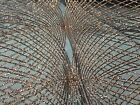 Diamond Pattern Fabric Old Gold Sequins Web Embroidered Mesh Fabric By Yard