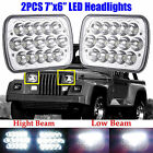2x LED Headlight Headlamp Hi Lo Beam Bulb Upgrade For Jeep Wrangler YJ 1987 1995