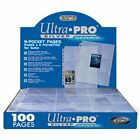 20 Ultra PRO Silver 9 Pocket Trading Gaming Card Album Pages Binder Sheets