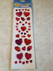 3D Sandylion Gems Stickers HEARTS MULTI COLORED PINKS ADHESIVES New