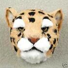 MEDIUM SIZE LEOPARD HEAD Fur ANIMAL Magnets Handcrafted  Hand painted