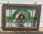 Stained Glass Window Hang Green Yellow Blue Red Abstract 245 x 19