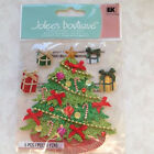 Jolees Boutique STICKER CLASSIC TREE CHRISTMAS ORNAMENTS 3D GLITTER HOLIDAY NEW