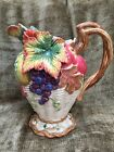 Fitz And Floyd Classics Autumn Bounty Harvest Heritage Thanksgiving Pitcher 1.5q