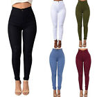 US Women Pencil Casual Denim Skinny Jeans Pants High Waist Slim Jeans Trousers