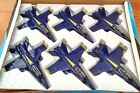 Set of 6 diecast 9 model F A 18 Hornet US Navy Blue Angels fighter jet NEW