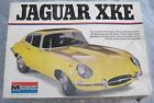Vintage 1976 Monogram Yellow JAGUAR XKE 1/8 scale Model Kit #2601 in