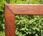 c1900 LONG QUARTER SAWN TIGER OAK Mission Arts Crafts ADVERTISTING FLAG Frame