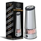 Dual Electric Pepper Grinder  Salt Mill 2 in 1 Kitchen Gadget Electronic Bat
