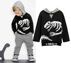 Kid Baby Boy Girl Dinosaur Hoodie Hooded T shirt Top Clothes Jumper+Pants Outfit