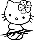 Hello Kitty Hula Hawaii Vinyl Car Window Laptop Decal Sticker